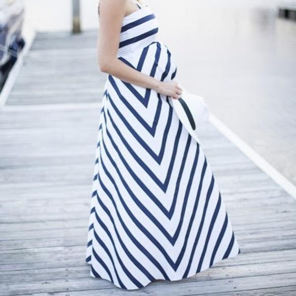 77a229475e24b Jessica Simpson Dresses & Skirts - Jessica Simpson Nautical Stripe Maternity  Gown